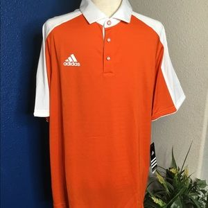 Adidas Man Polo Shirt MV COACHES POLOOrange Size L